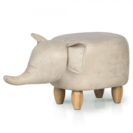 Esther the Elephant Footstool - Red Candy