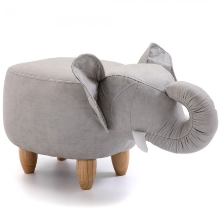 Elton the Elephant Footstool - Red Candy