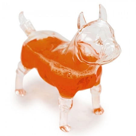 Fabien the French Bulldog Decanter - Red Candy