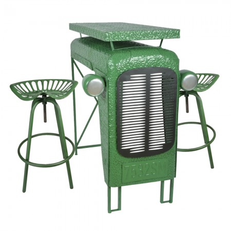 Green Tractor Table - Red Candy