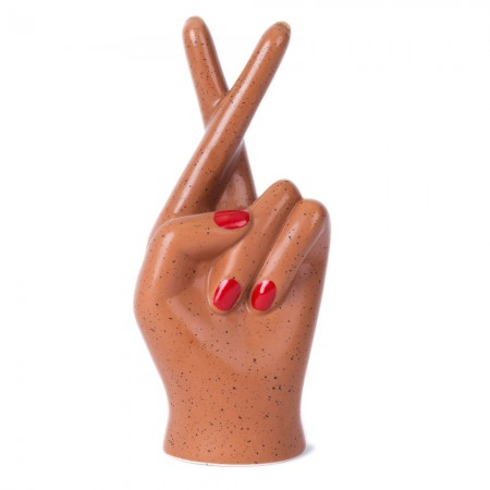 Fingers Crossed Hand Vase (Terracotta) - Red Candy