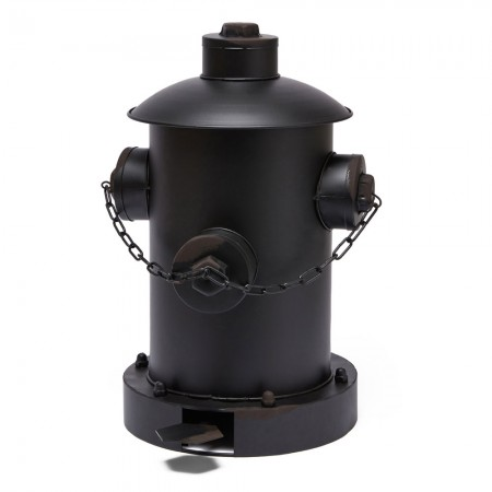 Fire Hydrant Pedal Bin (Black) - Red Candy
