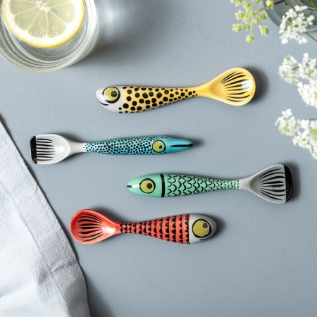 Fish Spoons (Set of 4) - Red Candy