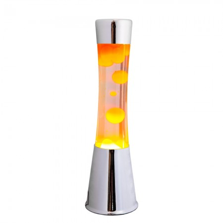 Silver / Orange Lava Lamp - Red Candy