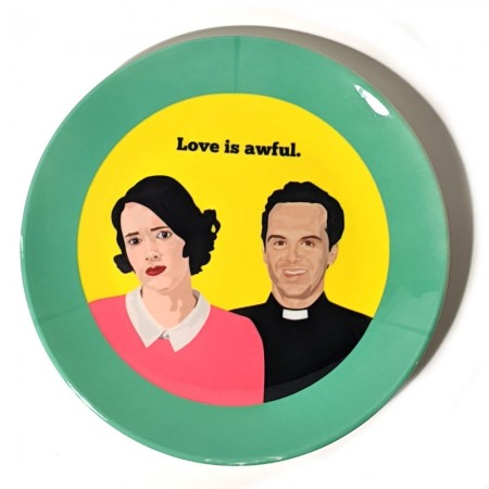 Fleabag & Hot Priest Plate - Red Candy