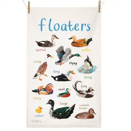 Floaters Tea Towel - Red Candy