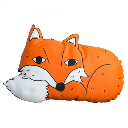 Farly the Fox Cushion - Red Candy