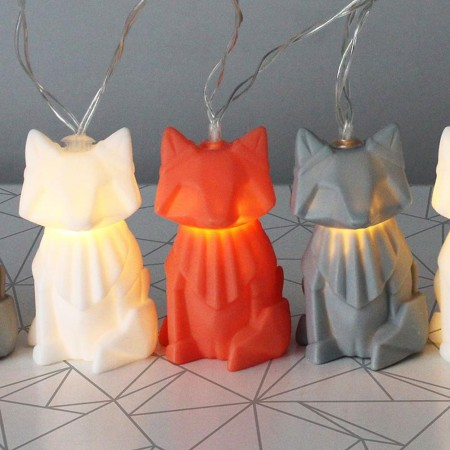 Fox String Lights - Red Candy