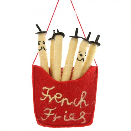 Francophiles Fries Ornament - Red Candy