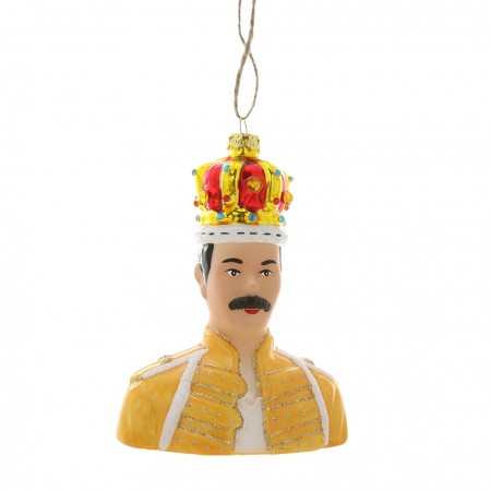 Freddie Mercury Bauble - Red Candy