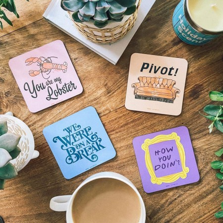 Friends Quotes Coasters - Red Candy