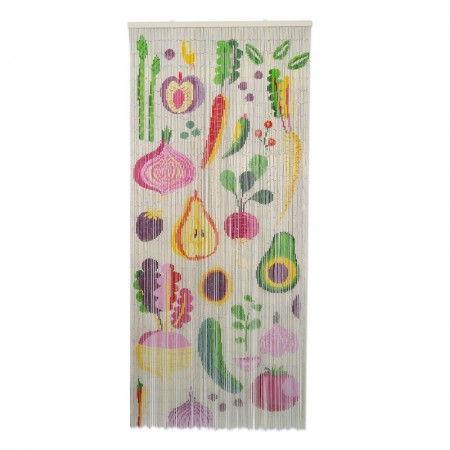 Fruits & Roots Bamboo Door Curtain - Red Candy