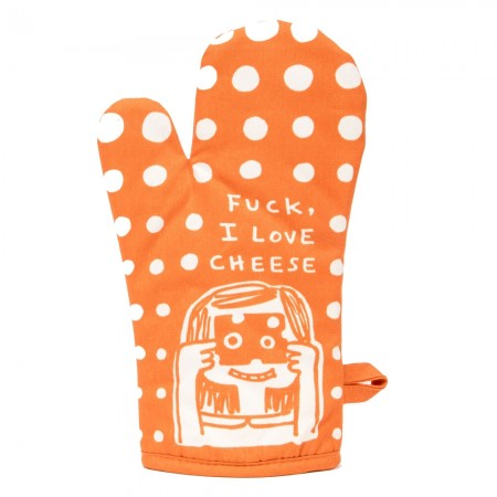 Fuck I Love Cheese Oven Mitt - Red Candy