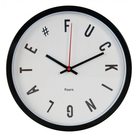 Fucking Late Wall Clock - White - Red Candy