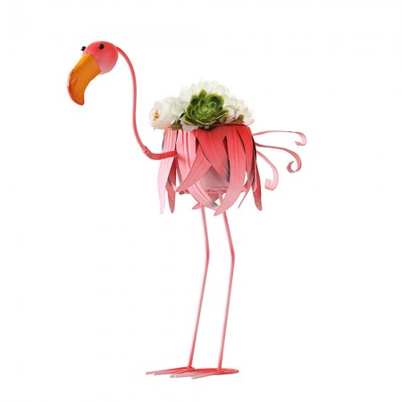 Fuddle the Flamingo Planter - Red Candy