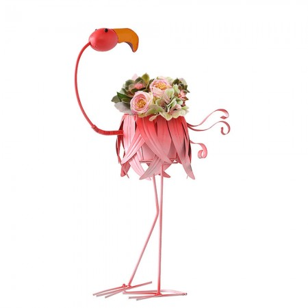 Fudge the Flamingo Planter - Red Candy
