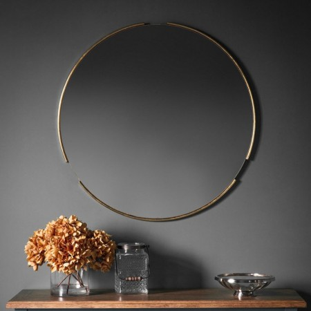 Gold Eclipse Wall Mirror - 80cm