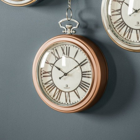 Hanging Chain Copper Wall Clock - Red Candy