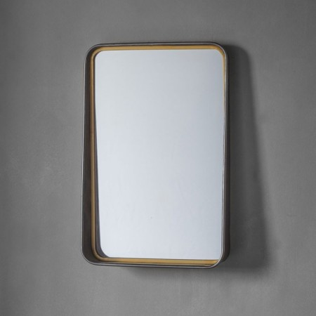 Industrial Framed Wall Mirror (38 x 57cm) - Red Candy