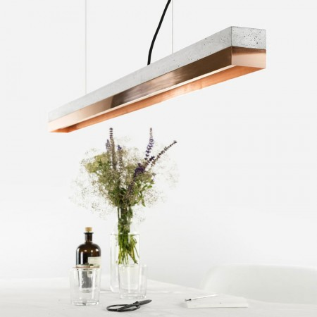 C1 Strip Pendant Light (Grey & Copper) - Red Candy