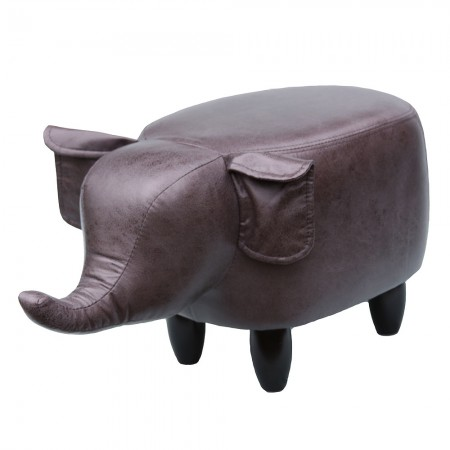 Edwin the Elephant Footstool - Red Candy