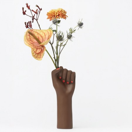 Girl Power Vase Black (Small) - Red Candy