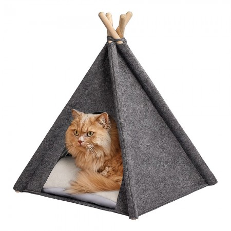 Glamping Cat Teepee Tent - Red Candy