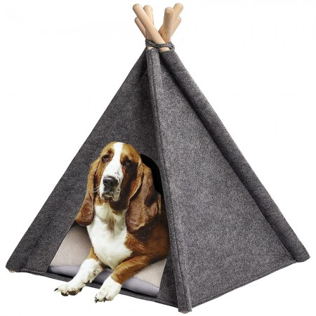 Glamping Dog Teepee Tent - Red Candy