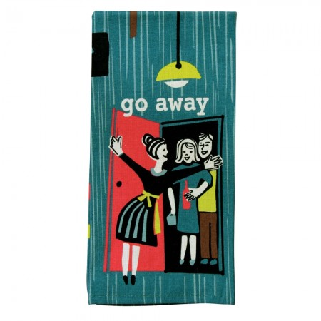 Go Away Tea Towel - Red Candy