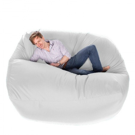 Giant Bean Bag (White) - Red Candy