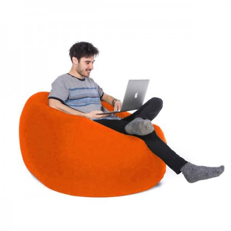 Retro Classic Indoor Outdoor Bean Bag (Orange 3 Sizes) - Red Candy