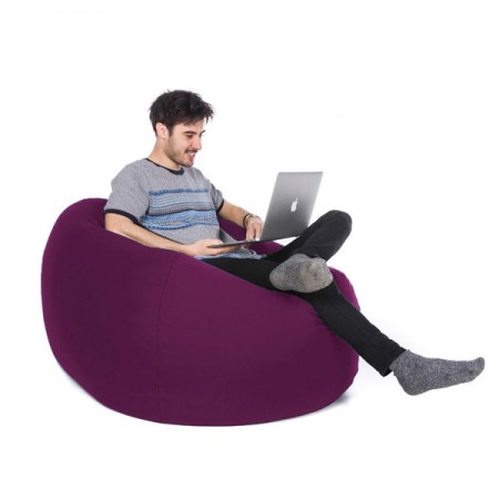 Retro Classic Indoor Outdoor Bean Bag (Purple 3 Sizes) - Red Candy
