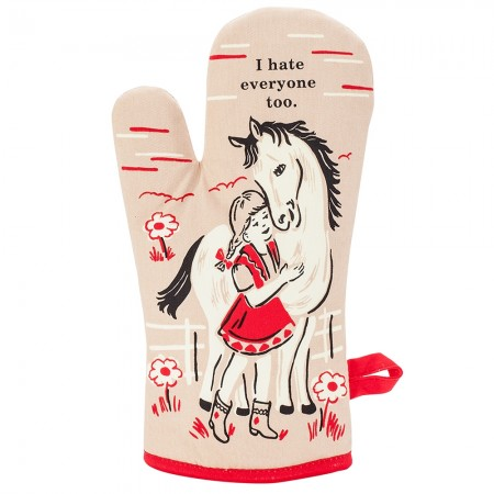 I Hate Everyone Too Oven Glove - Red Candy