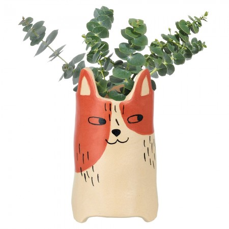 Henry the Cat Vase - Red Candy