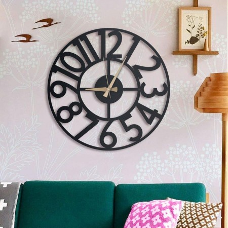Hanlin Metal Wall Clock (2 Sizes) - Red Candy