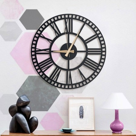 Rail Metal Wall Clock (2 Sizes) - Red Candy
