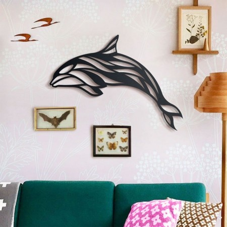 Whale Metal Wall Art - Red Candy