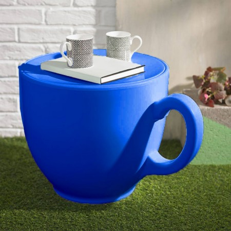 Tea Cup Stool (Navy) - Red Candy