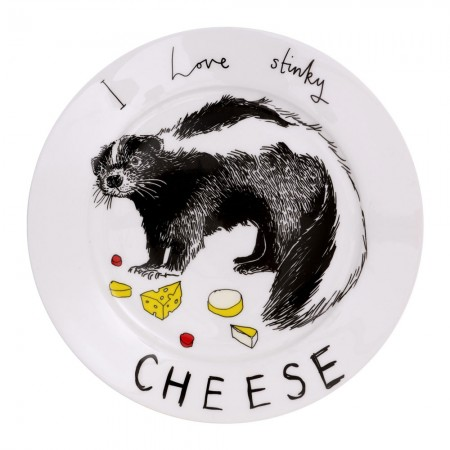 I Love Stinky Cheese Side Plate - Red Candy