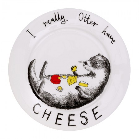 I Really Otter Have Cheese Side Plate - Red Candy