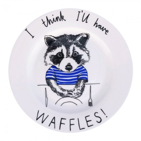 I Think I'll Have Waffles Side Plate - Red Candy