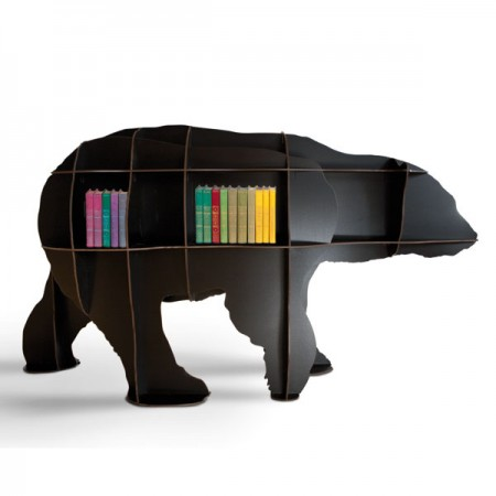 Ibride Junior Bear Bookcase (Black) - Red Candy