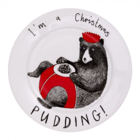 I'm a Christmas Pudding Side Plate - Red Candy