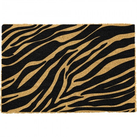 Zebra Stripes Doormat - Red Candy