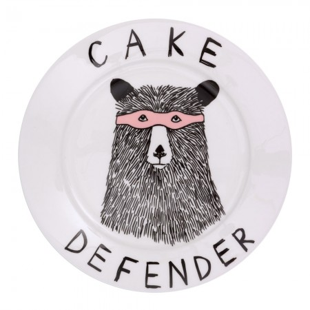 Cake Defender Side Plate - Red Candy