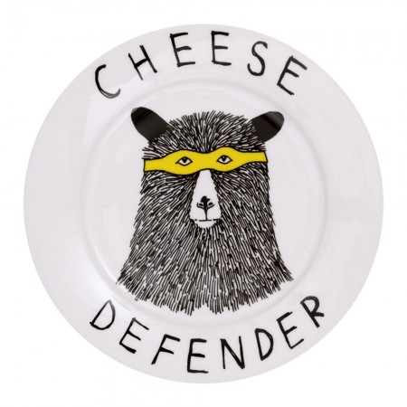 Cheese Defender Side Plate - Red Candy