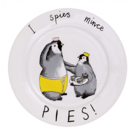 I Spies Mince Pies Side Plate - Red Candy