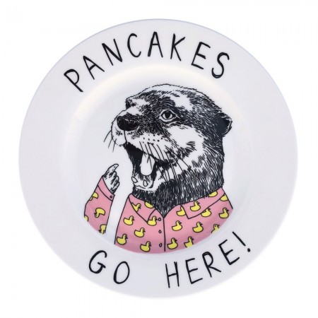 Pancakes Go Here Side Plate - Red Candy