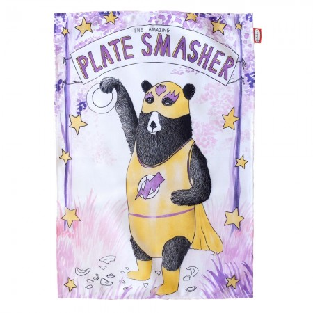 Plate Smasher Tea Towel - Red Candy