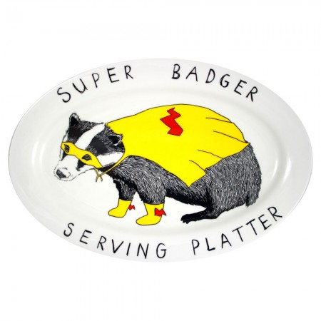 Super Badger Serving Platter - Red Candy
